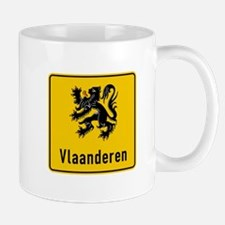 Flanders Road Sign, Belgium Mug