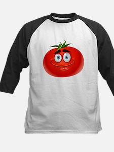 Smiley tomato Vegetable cartoon Baseball Jersey