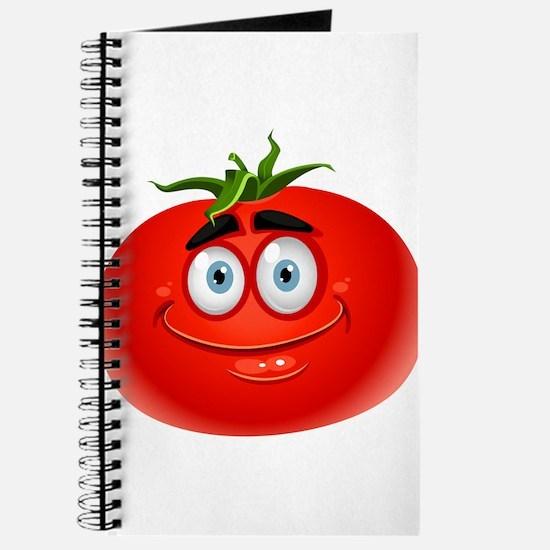 Smiley tomato Vegetable cartoon Journal