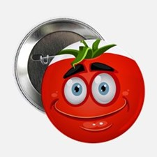 """Smiley tomato Vegetable car 2.25"""" Button (10 pack)"""