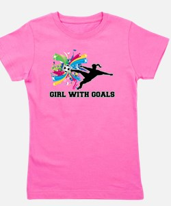 Girl With Goals Girl's Tee