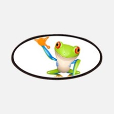 Cute colorful frog design Patch