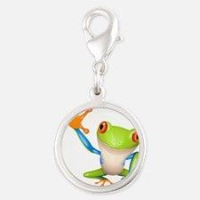 Cute colorful frog design Charms