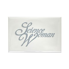 Science Woman Rectangle Magnet