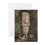Copan Stele D Mayan Greeting Cards (Pk of 20)