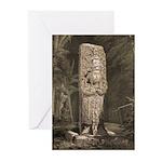 Copan Stele D Mayan Greeting Cards (Pk of 10)