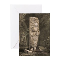 Copan Stele D Mayan Greeting Card