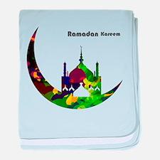 Colorful Ramadan Kareem design baby blanket