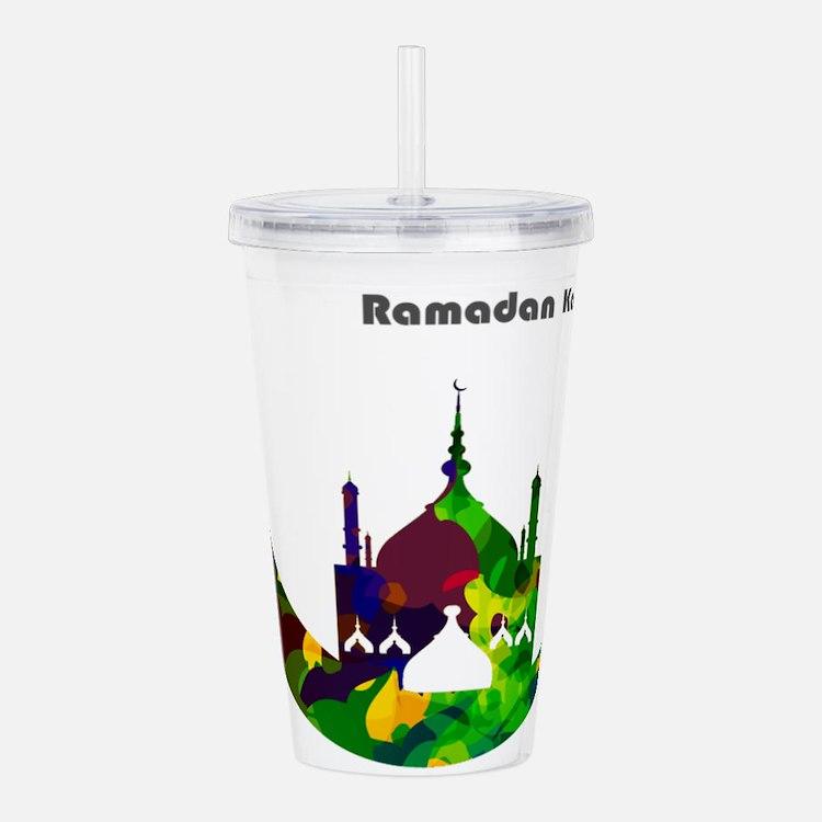 Colorful Ramadan Karee Acrylic Double-wall Tumbler