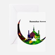 Colorful Ramadan Kareem design Greeting Cards