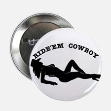 "Ride'Em Cowboy 2.25"" Button"