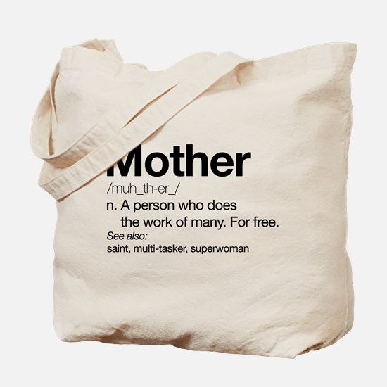 Mother Definition Tote Bag
