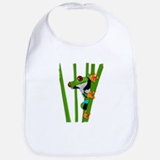 Cute frog on grass Bib