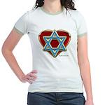 Heart For Israel Jr. Ringer T-Shirt