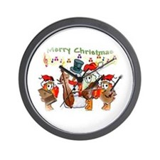 A musical Merry Christmas Wall Clock