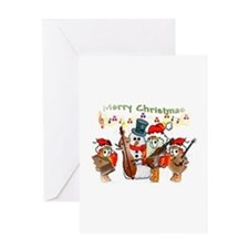 A musical Merry Christmas Greeting Card