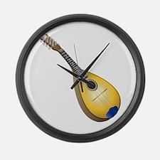 Music instrument mandolin Large Wall Clock