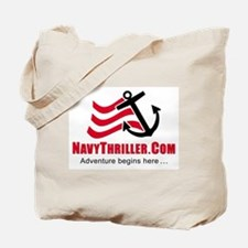 Navy Thriller Tote Bag