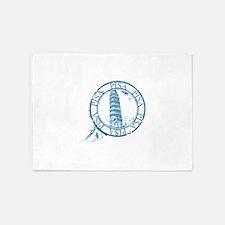 Pisa travel stamp 5'x7'Area Rug