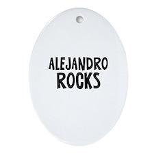 Alejandro Rocks Oval Ornament