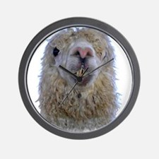 Alpaca Closeup Wall Clock