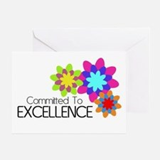 """Committed to Excellence"" Greeting Card"