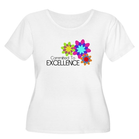 """Committed to Excellence"" Women's Plus Size Scoop"