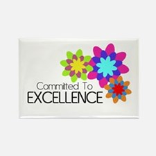"""Committed to Excellence"" Rectangle Magnet"