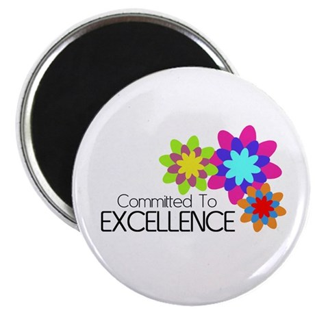 """""""Committed to Excellence"""" 2.25"""" Magnet (10 pack)"""