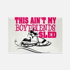 This ain't my boyfriends sled Rectangle Magnet
