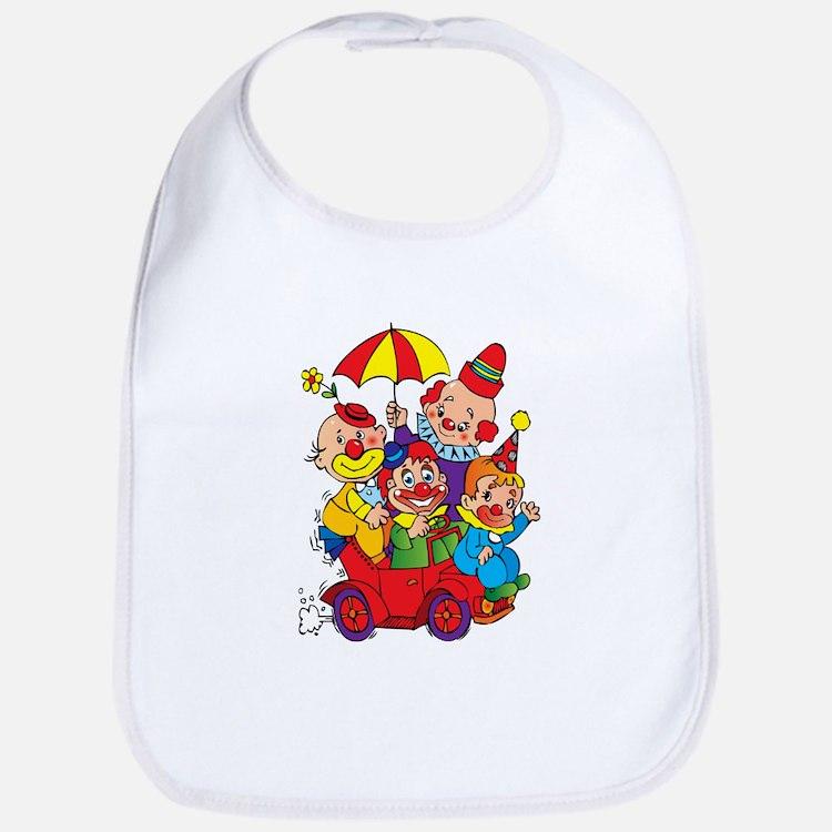 Clown kids in car design Bib