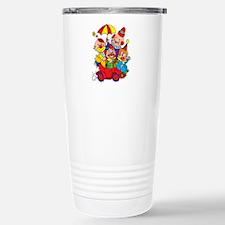 Clown kids in car desig Travel Mug