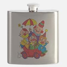 Clown kids in car design Flask