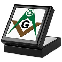 Masonic Recyclers Keepsake Box