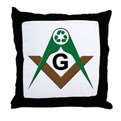Masonic Recyclers Throw Pillow