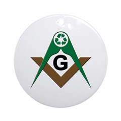 Masonic Recyclers Ornament (Round)