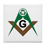 Masonic Recyclers Tile Coaster