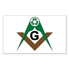 Masonic Recyclers Rectangle Decal