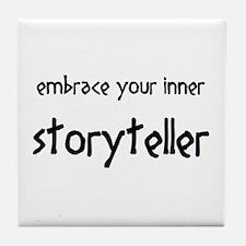 inner storyteller Tile Coaster