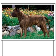 Bullmastiff brindle Autumn Yard Sign