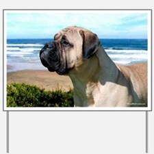 Bullmastiff Beach Yard Sign