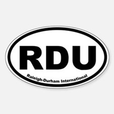Raleigh-Durham International Oval Decal
