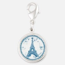 Paris travel stamp Charms