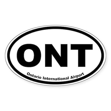 Ontario International Airport Oval Sticker