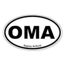 Eppley Field Oval Stickers