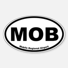 Mobile Regional Airport Oval Decal