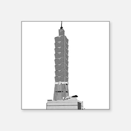 Taipei tower skyscrapers Sticker