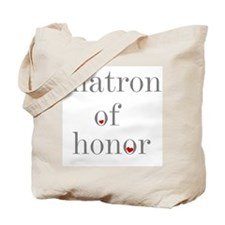 Matron Honor Grey Text Tote Bag