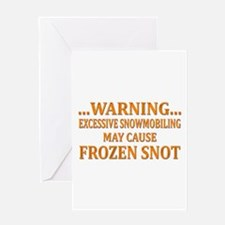 Snowmobile Snot Greeting Card