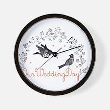 Magpie bird pattern Wall Clock